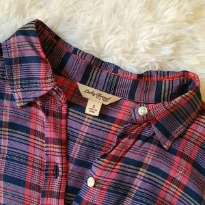 Lucky Brand Tops - Lucky Red and Blue Check Flannel Shirt